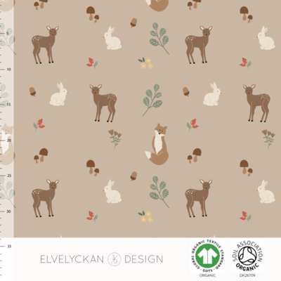 Elvelyckan  - Forest Animals Cappuccino 38 RIBBED KNIT €23 p/m