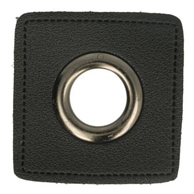 Nestels op zwart Skai leer 11mm - €0,95 p/s