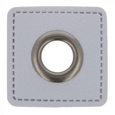 Nestels op grijs Skai leer 11mm - €0,95 p/s