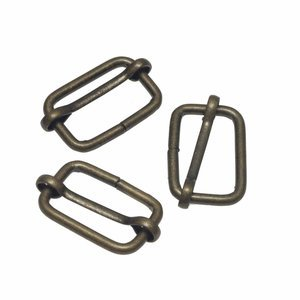 Bronzen metalen schuifgesp 25mm