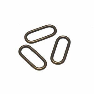 Brons metalen passant 25mm
