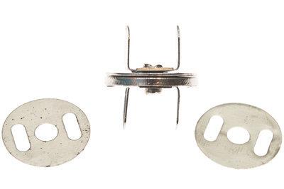 Zilver magneetsluiting 18mm PLAT