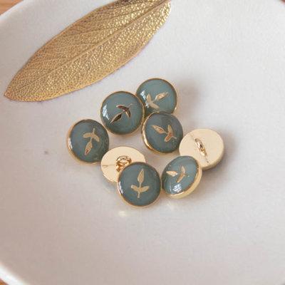 Lise Tailor -  Leaf Button 12mm - Verbena