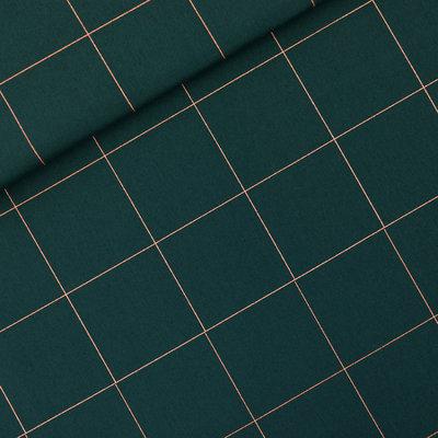 COUPON  45cm See you at six - Thin Grid Green Gables KATOEN CANVAS €20 p/m