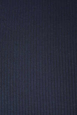 meetMilk - Dark Navy Derby Ribbed Jersey TENCEL™ Modal vezels €22,50 p/m