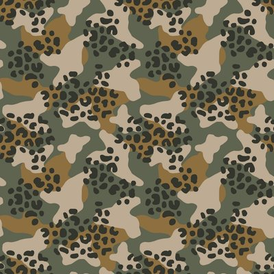 Verhees Animal Camo Forest Green SOFT SWEAT - €16 p/m GOTS