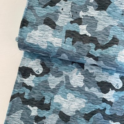 Hilco - Camouflage BLAUW FRENCH TERRY €21,90 p/m