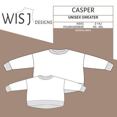 WISJ - Casper unisex sweater kids en volwassenen  €12