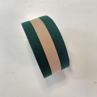 Tassenband GROEN - BEIGE 50mm €5,00 p/m
