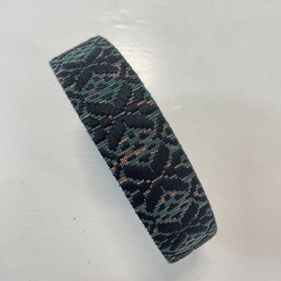Tassenband zwart, groen, brons  30mm €5,00 p/m
