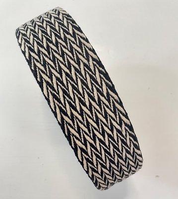Tassenband zwart/ecru pijlen 50mm €5,50 p/m