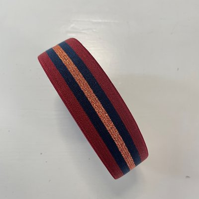 Sierelastiek - Rood, navy, koper - 35 mm € 5,00  p/m