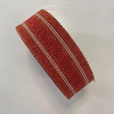 Sierelastiek - Oranje, ecru, koper, rood - 50mm € 5,00  p/m