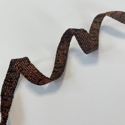 Hoodiekoord  - zwart met brons, € 3,3 p/m