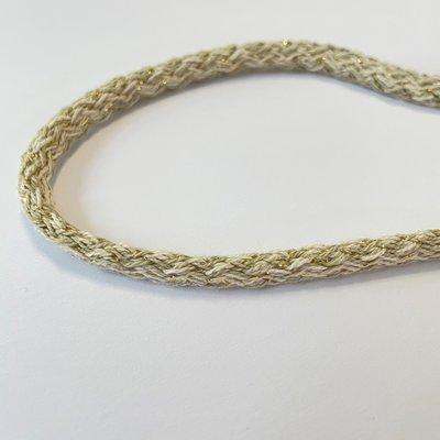 Hoodie koord  - Zand, goud, 0,8 mm   € 3,- p/m