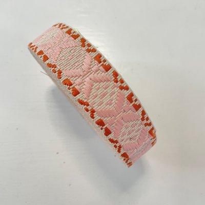 Tassenband Creme, lichtroze oranje  30mm €4,50 p/m