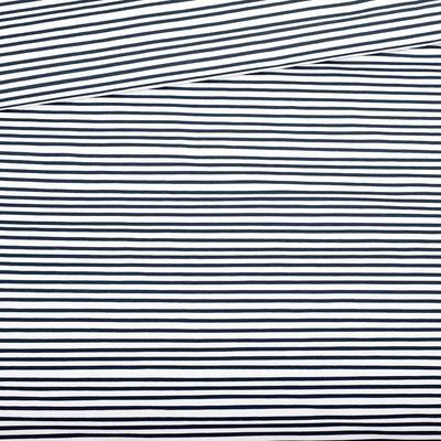 Eva Mouton - Dark Blue STRIPES French Terry  €27,30 p/m