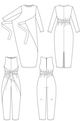 NAMED - Kielo Wrap Dress 32-56 €16,50