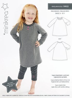 Minikrea Raglan dress 50022