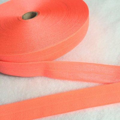 Neon oranje pink - Elastisch Biais