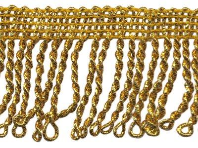 Goud franjeband / lurex 50mm