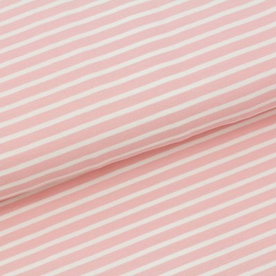 Peach pink stripes €19,80 p/m GOTS