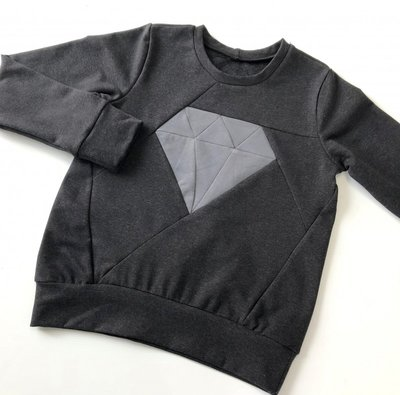 Black/dark grey melange sweat €24 p/m GOTS