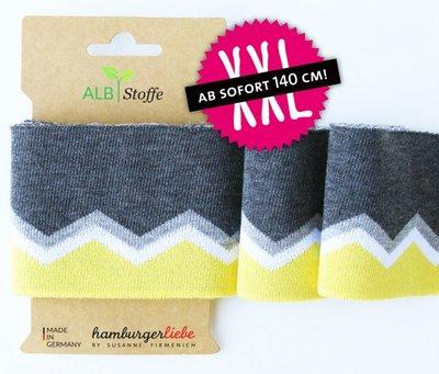 Cuff me Icon - grijs-geel 140cm breed! € 9,95p/s