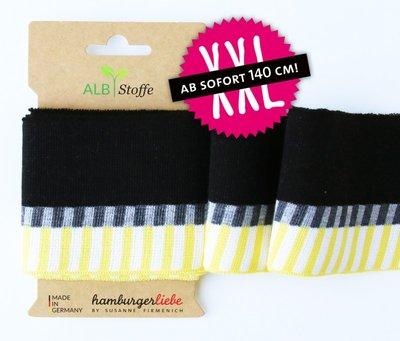 Cuff me Mono - zwart/geel 140cm breed! € 9,95p/s