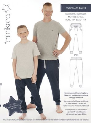 Minikrea Sweatpants MEN XS-XXL Boys 2-16j 66340