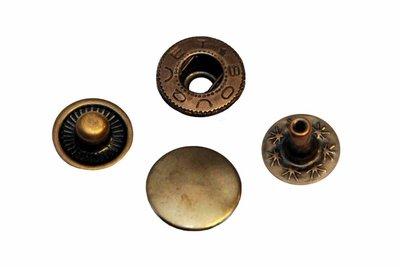 Drukknoopjes 12mm brons (set 10 stuks)