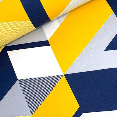 Tidoeblomma - Triangular mustard (GOTS summersweat) €21,90 p/m