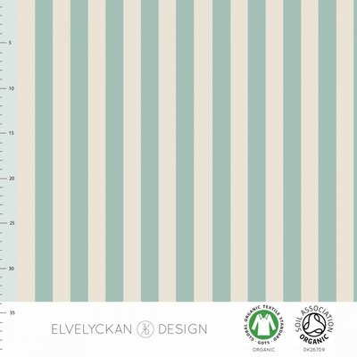 COUPON 90cm Elvelyckan  - Mint stripes €24 p/m jersey (GOTS)