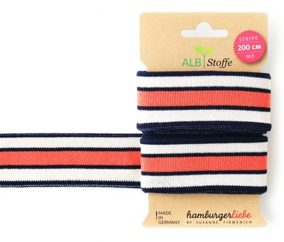 Alb Stoffe - Stripe me 200cm  -Donkerblauw streep €9,10 p/s