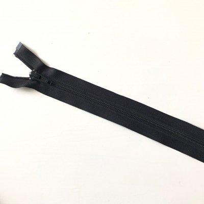 Deelbare zwarte rits 35 cm