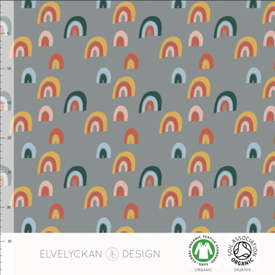 Elvelyckan  - Rainbow grey €25,50 p/m stretch college (GOTS)