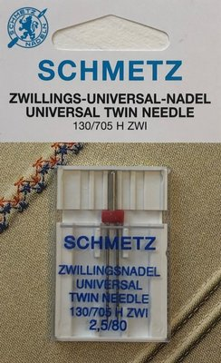 Twin Needle Schmetz 2,5/80 (universeel)