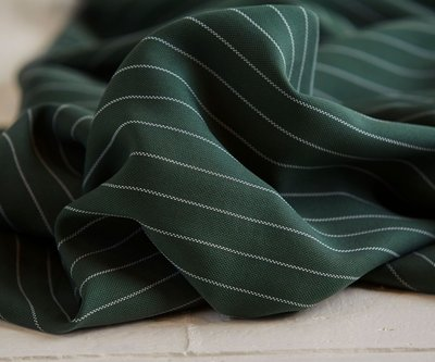 meetMilk - pin stripe PIQUE DEEP GREEN met TENCEL™ Lyocell vezels €29,50 p/m