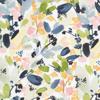 Cloud 9 - Floral in Indigo - Cotton Sateen €22 p/m (biokatoen)