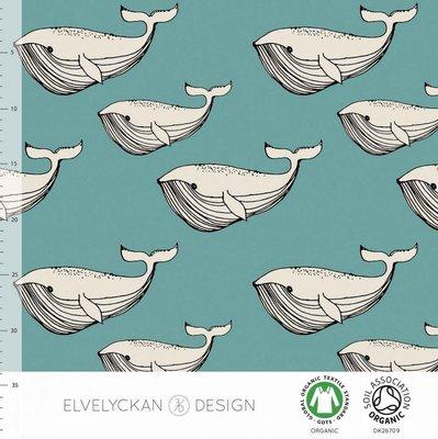 Elvelyckan  - Blue whale €24 p/m jersey (GOTS)