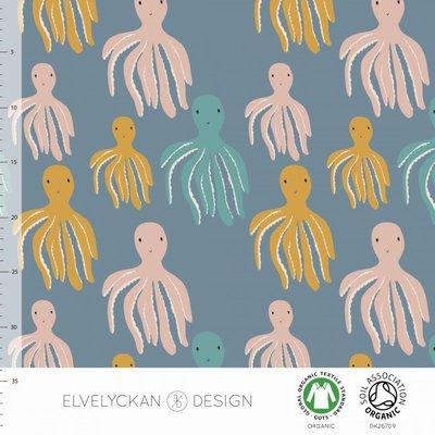 COUPON 43cm Elvelyckan  - Octopus €24 p/m jersey (GOTS)