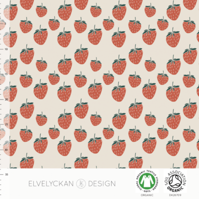 Elvelyckan  - Strawberry creme €24p/m jersey (GOTS)
