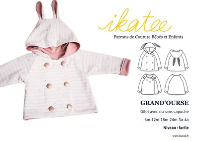 Ikatee - Grand'ourse Cardigan - Baby 6m - 4 jaar