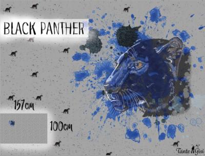Lillestoff -  Paneel Panther 100cm jersey €20 p/s GOTS