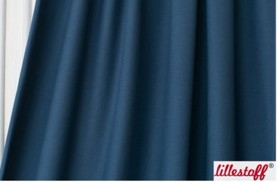 Lillestoff -  summerjersey Staalblauw €12 p/m GOTS