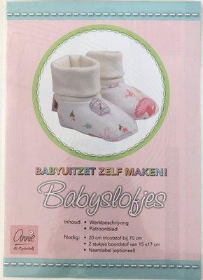 Annie - Naaipatroon Babyslofjes €1,50 p/s