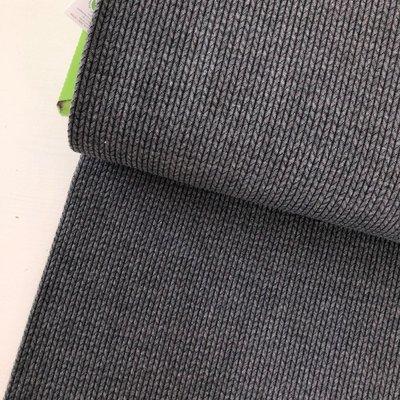AlbStoffe - Hamburger Liebe - Knit Knit Donkergrijs €23,90 p/m (GOTS)