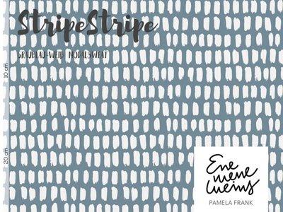Lillestoff -  Stripe grijsblauw modal sweat €21 p/m GOTS