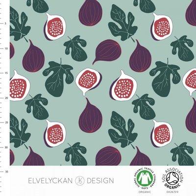 COUPON 85cm Elvelyckan  - Vijgen €24p/m jersey (GOTS)