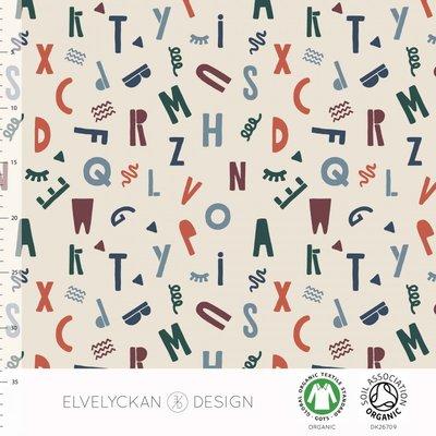 Elvelyckan  - Alfabet €24 p/m jersey (GOTS)